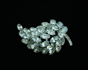 Dazzling  Rhinestone Pin Brooch Marquis Rhinestones Wedding Special Occasion Any Occasion