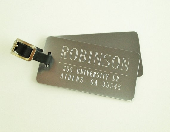 Personalised Luggage Tags Wedding Gift : favorite favorited like this item add it to your favorites to revisit ...
