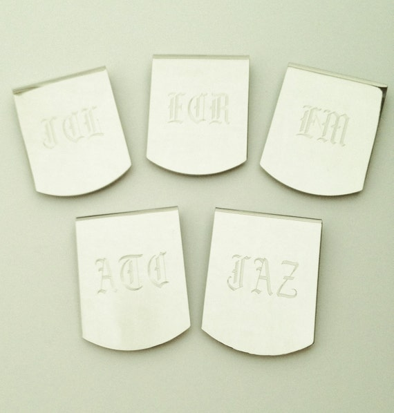 Reserved Listing for Nate - 8 Money Clips for Groomsman Gifts