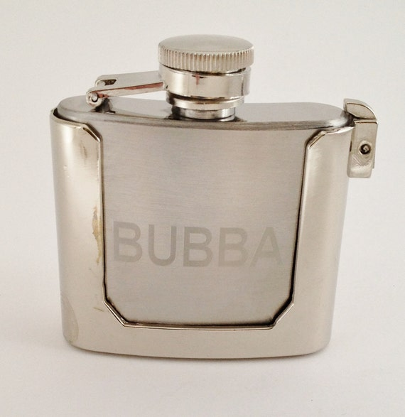 Belt Buckle Flask Engraved with Name - Fun Gift for Man Groomsman Game Day