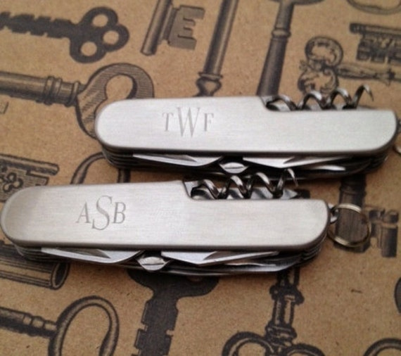 Two Engraved Pocket Knives - For Groomsmen Gifts, Birthdays, Fathers Day