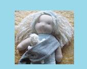 Baby-wearing, Nursing Mama and Baby Waldorf Doll, hand-sewn and natural, Blonde