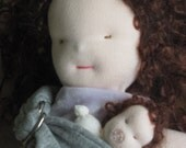 Baby-Wearing Mama Waldorf Doll, Brown-haired, Brunette