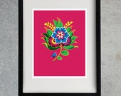 8x10 Flower Print - Magenta