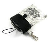 Black and white   - linen  iPhone, BlackBerry, HTC  Case/Sleeve/ Cover/ Pouch