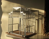 Art Deco Chrome Bird Cage