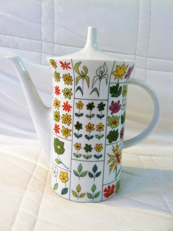 Vintage 1960s Emilio Pucci Rosenthal coffee pot
