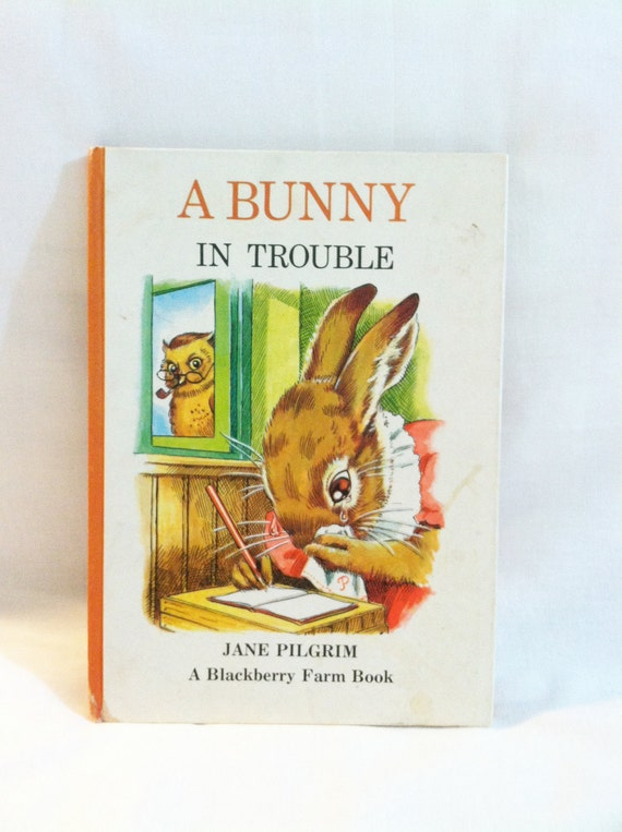 Vintage children's book 'A Bunny in Trouble' by Jane Pilgrim