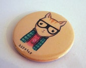 Hipster Magnet by Noosed Kitty