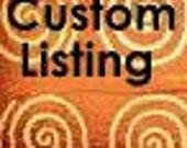 Custom Listing for Britney Hay