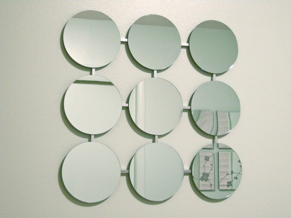 Mod Mirrors Retro Circles Modern Mirror 1960's Eames Era Mid-Century Atomic New Wall Art Eames Era