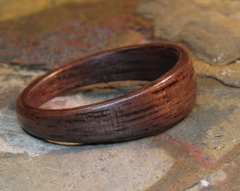 Walnut Wedge Bentwood Ring