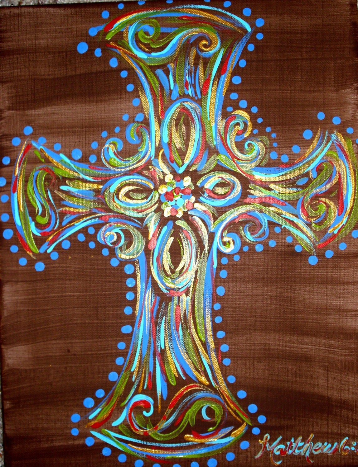 Unavailable listing on etsy for Cross paintings on canvas