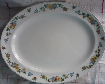 Rare Johnson Brothers Pareek Platter, Shabby Chic, Cottage Chic, French country, French Farmhouse