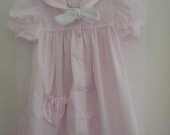 Pretty in Pink Bryan Vintage Girl's Sailor Dress