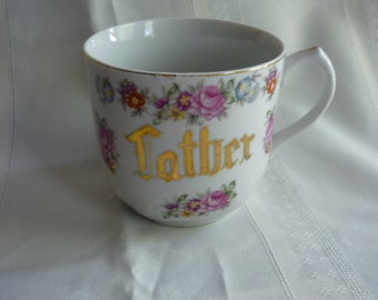 Vintage,  Shaving Mug, Father, Sweet floral Detail