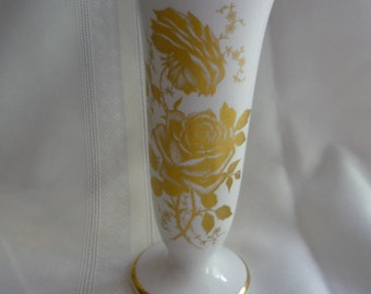 Gorgeous James Kent Old Foley Gold Rose Vase
