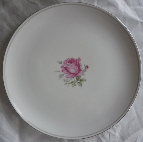 Four Imperial Rose Fine China Dinner Plates