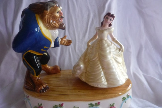 Reserved Walt Disney and Schmid Musical Animated Collection Belle and Beast, Treasury Item