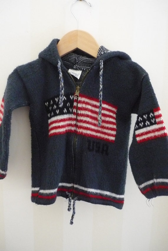 Made in Equador Child's Wool Flag Sweater