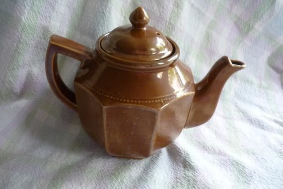 Beautiful Brown Vintage Lusterware Teapot