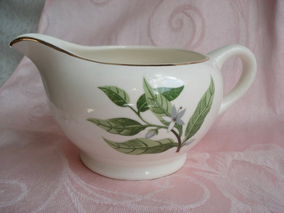 Vintage W.S. George Creamer Floral Shabby Chic Cottage Style Jasmine Vine
