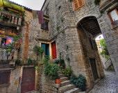 Croatia Bungalow, Split Croatia, 23x25 Fine Art Photograph