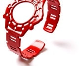 Fake Rolex Watch Bracelet in red powder coated Spring Steel