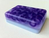 Purple Swirl Light Blue Glycerin Lavender Soap