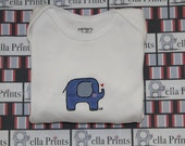 Baby Bella Elephant Infant Onesie - Ready to ship - size 6 mos.