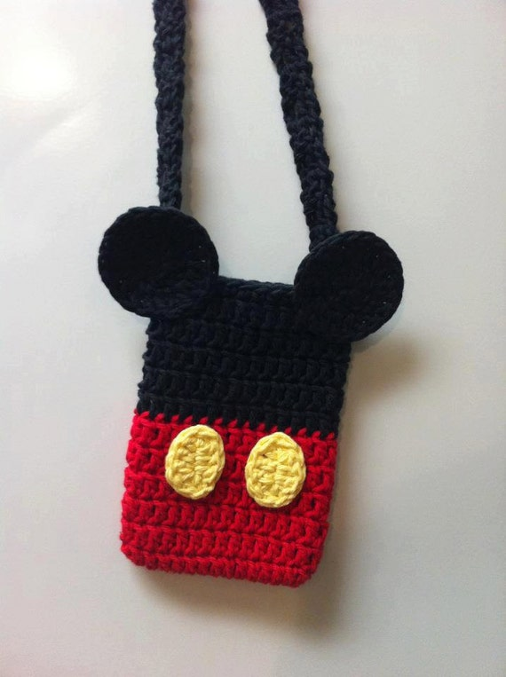 Free Crochet Mickey Mouse Purse Pattern : Items similar to Mickey or Minnie Mouse Disney inspired ...