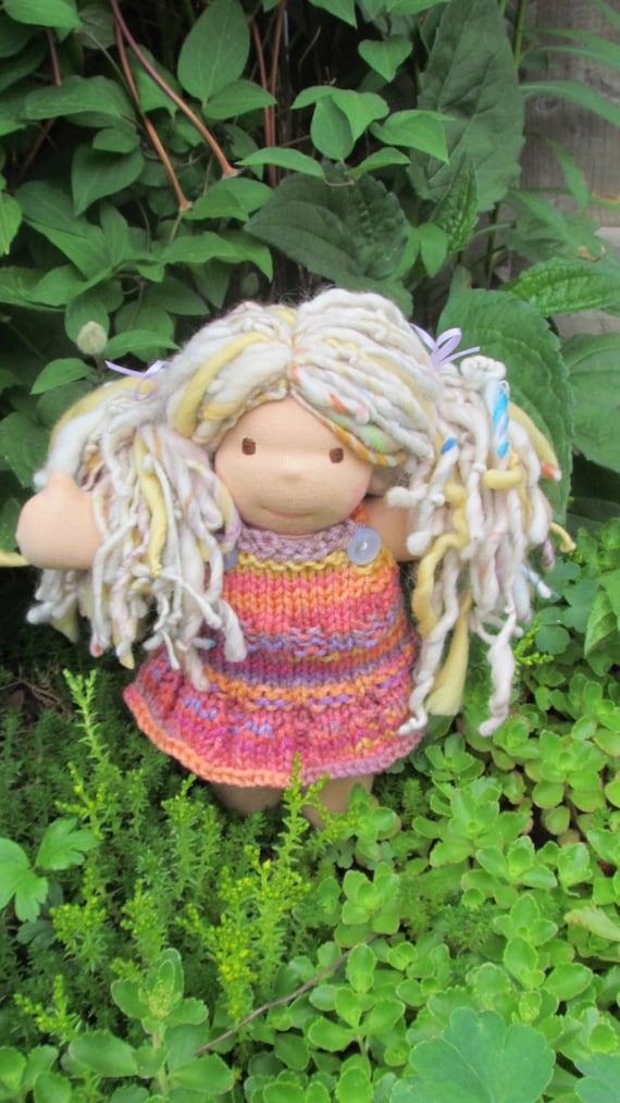 "9"" Waldorf inspired doll - Annie"