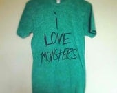 I Love Monsters Burnout Tee