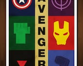 The Avengers Art Print - Poster Inspired by Comic Book and Film 'The Avengers' - 11x17