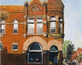 "Original Oil Painting - ""East Third St."" - 5"" x 7"""