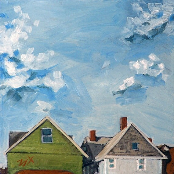 """Original Oil Painting - """"Up and Away"""" - 5"""" x 5"""""""