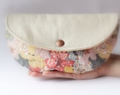 Clutch, purse, floral purse, bag, Liberty of London, leather pu,