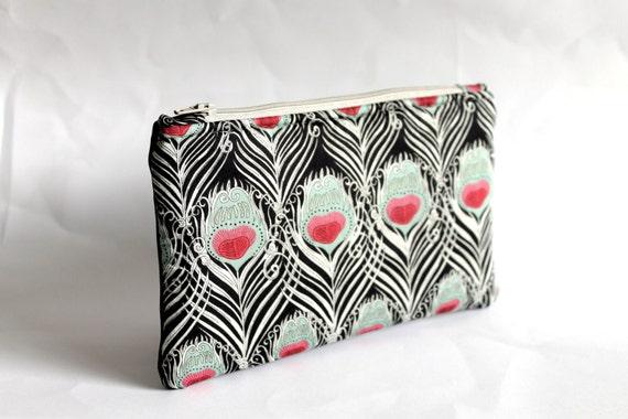 Zipper pouch, clutch purse, coin purse, cosmetic bag, Liberty of London Tana Lawn