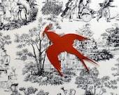 "Paper cut art, for mothers day, paper cut original, swallow size 3x4"", pictu. size 8x11"""