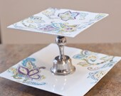 Decorative Paisley Two Tier Serving Dish