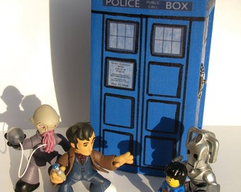 TARDIS Inspired Painted Blue Box