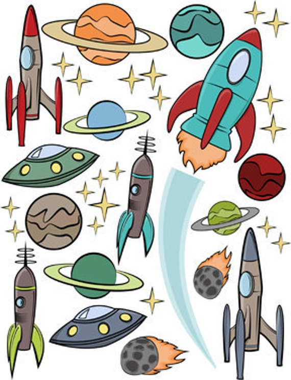 Retro Rockets Decal Collection
