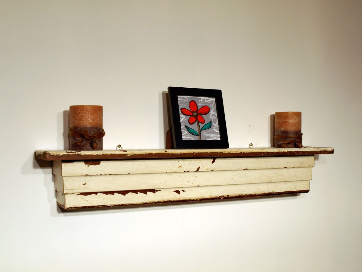 Rustic Shabby Chic Wall Shelf Ledge Mantel Made From 112
