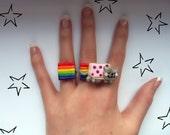 Nyan Cat Ring Set