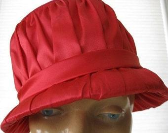 vintage. PINK. bright. HAT. velvet. SATIN. 1960s.