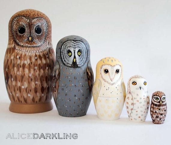 Owl Nesting Dolls Owl Nesting Dolls Matryoshka