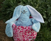 MINKY PLUSH BUNNY  Lovable Huggable Supper Soft Bunny perfect Easter Gift or Baby Gift