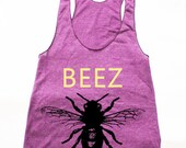 Lady Beez Womens American Apparel Rackerback Tank Tri-Blend Cranberry Tank available in XS, S, M, L