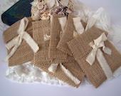 Rustic Burlap Wedding Favor Gift Bag