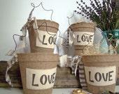 Rustic Wedding Favor Bag, Party Favor, Bridal Shower, Barn Wedding